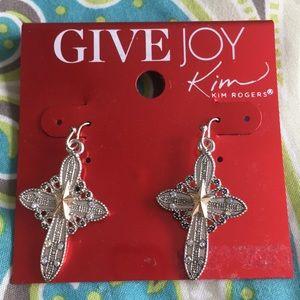 Kim Rogers Cross Earrings